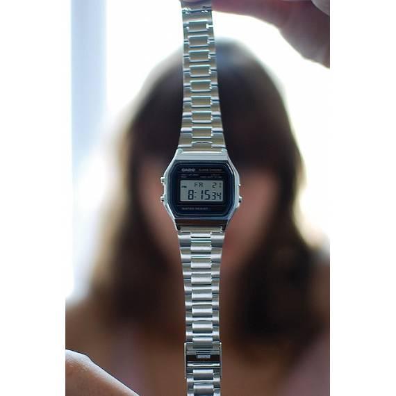 Nuevo Reloj Casio Plata A158WA-1 Oficial