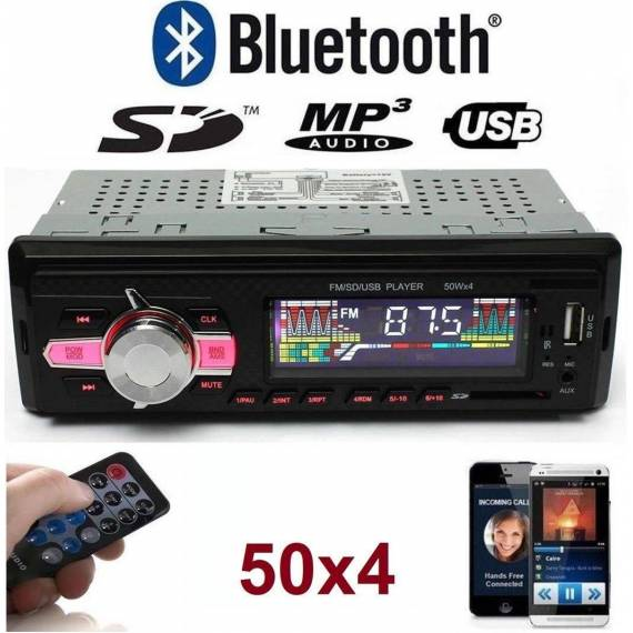 Radio para Coche Reproducto MP3 Bluetooth Mando Distancia
