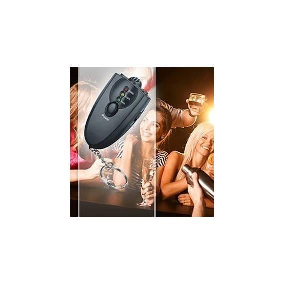 Llavero Alcoholimetro de Bolsillo con linterna LED, Anunciado en TV