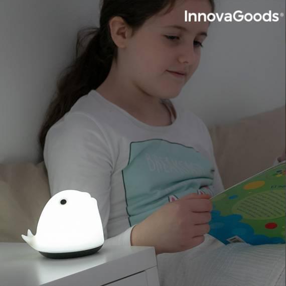 Lámpara Táctil Recargable de Silicona Ballena InnovaGoods