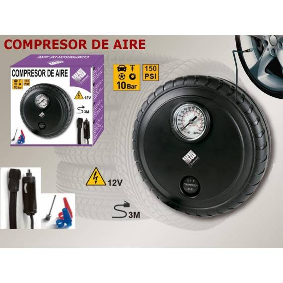 Compresor de Aire en forma de Rueda Inflador