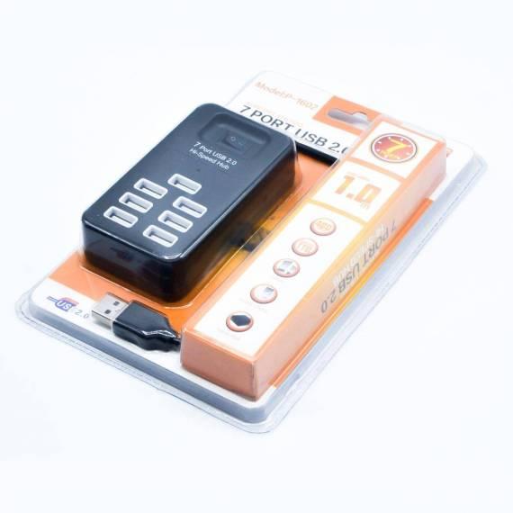 Ladrón de 7 Puertos USB 2.0 Hub Hi-Speed