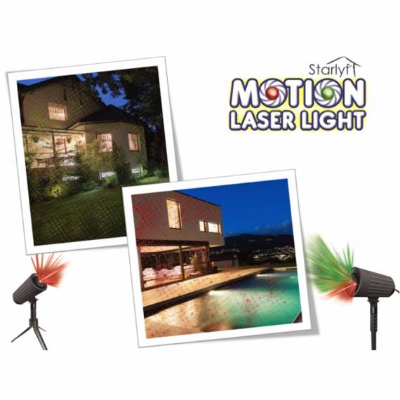 Proyector Luces pared Motion Laser Light con Mando a distancia