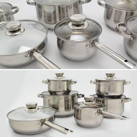 Batería de Cocina y Sarten 12 Piezas Royalty Line