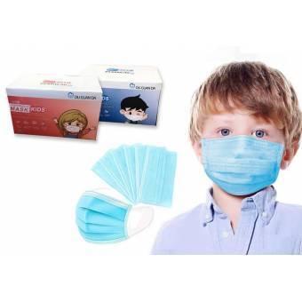 Pack de 50 mascarillas Infantiles desechables de triple capa - 1 uso