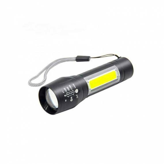 Linterna MINI LED COB 2 en 1 aluminio recargable + teletienda outlet anunciado tv