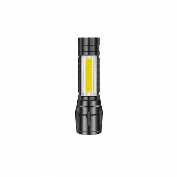 Linterna MINI LED COB 2 en 1 aluminio recargable