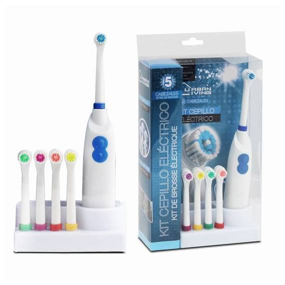 Cepillo de dientes eléctrico con 5 cabezales teletienda outlet anunciado tv