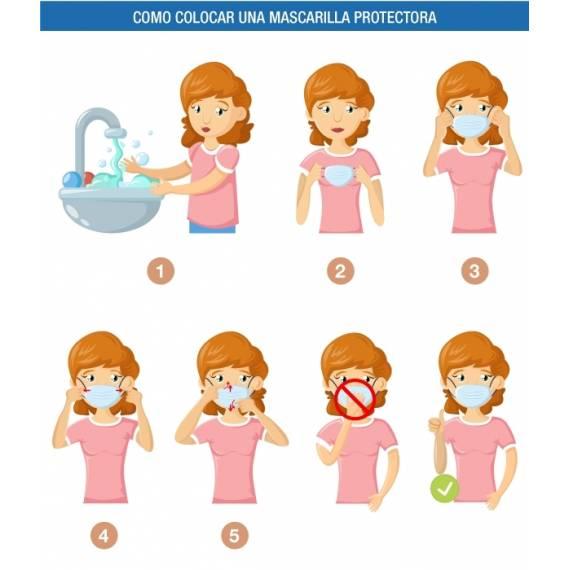Pack 5 Mascarillas protectora facial Protección Fpp2