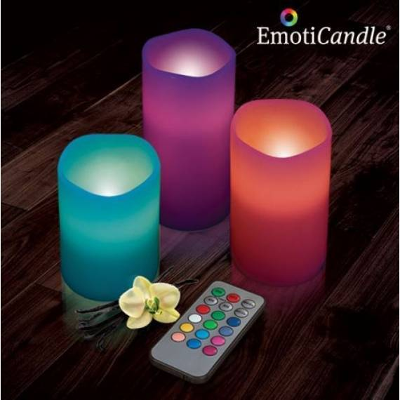 Pack de 3 Velas LED EmotiCandle teletienda outlet anunciado tv