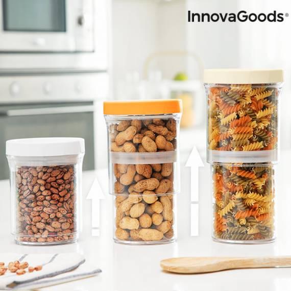 Recipientes de Cocina Ajustables y Herméticos InnovaGoods (Set de 3)