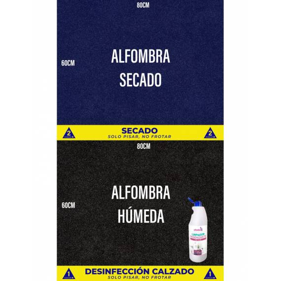 Alfombra Desinfectante Suelas Calzado (3 vinilos)