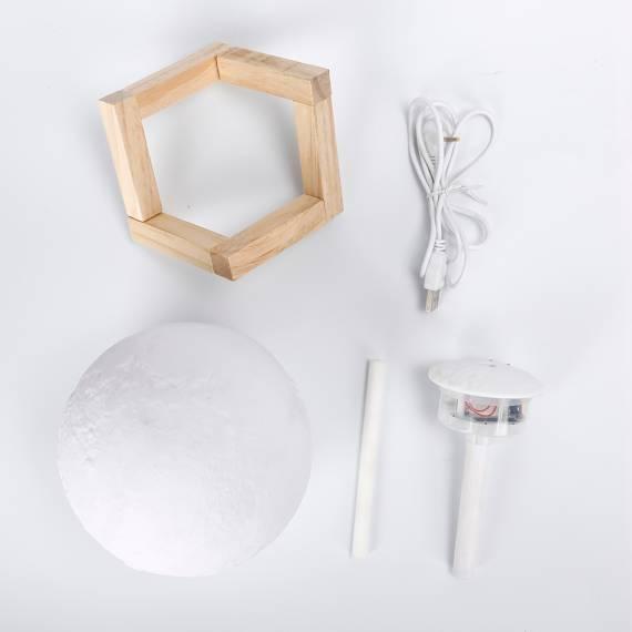 Lámpara Luna con Humidificador