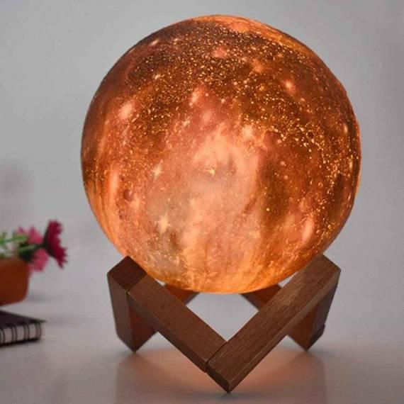Lámpara de luz LED universo táctil de 13cm cambio de color