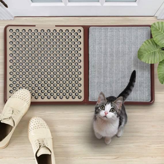 Alfombra limpia suela zapatos Higienizante Sanitizador de Zapatos Felpudo desinfectante