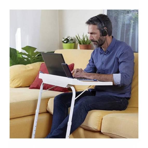 Mesa auxiliar Multiusos plegable con soporte para móvil o tablet