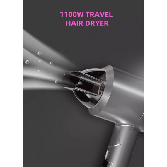 Mini Secador Plegable Potente para Casa y Viaje 1100W