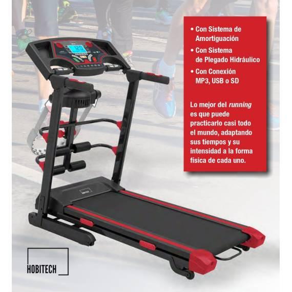 Cinta de Correr Profesional con Pesas, Cinturón Masajeador Linforeductor y Conexiones USB, MP3 y SD
