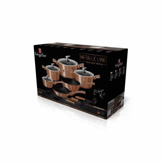 Batería Cocina 15 piezas Gold Rose Berlinger haus