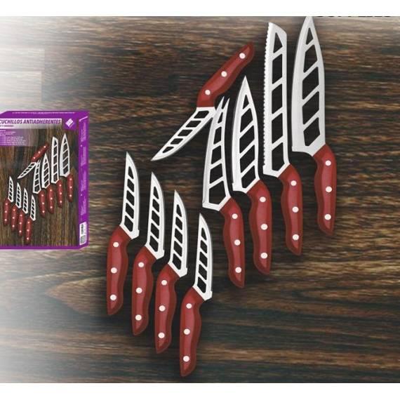 Pack 9 cuchillos antiadherentes BN5932 teletienda outlet anunciado tv