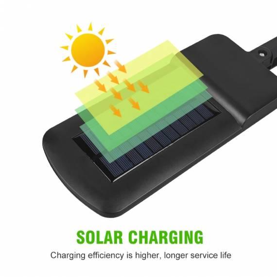 Lampara Foco Solar de 4 Led 20w Impermeable IP67 COB