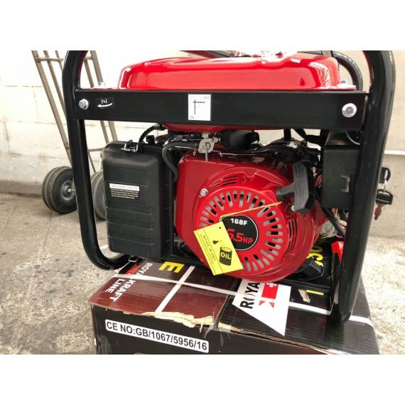 Generador De Corriente Eléctrico Profesional Grupo Electrógeno RK8500WE 3000W Arranque Electrico