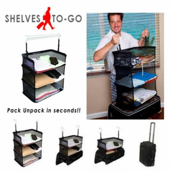 Organizador de Maleta de 3 baldas para colgar directamente Armario Shelves to Go