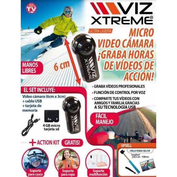 camara de video viz xtreme teletienda outlet anunciado tv