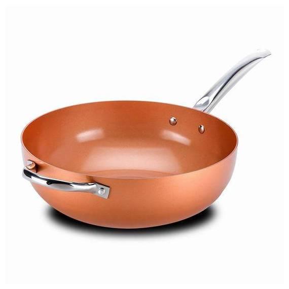 sartén wok cobre 30 cm teletienda outlet anunciado TV