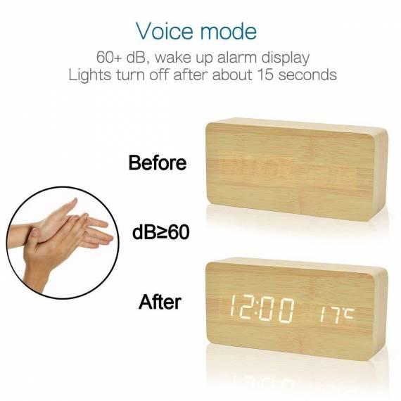 1e243876e331 ... reloj despertador madera sanda teletienda outlet anunciado tv ...