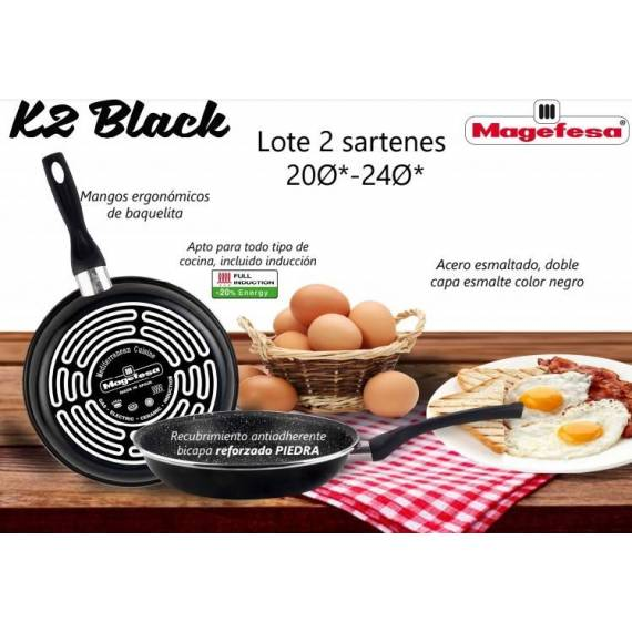pack 2 sartenes black k2 teletienda outlet anunciado tv