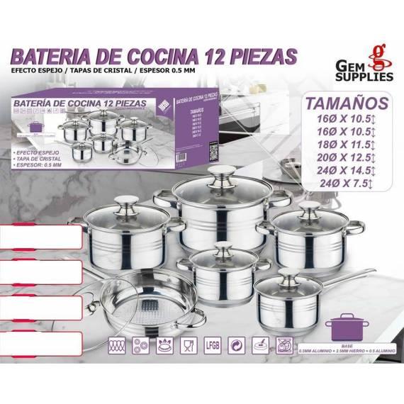 batería cocina 12 piezas teletienda outlet anunciado tv