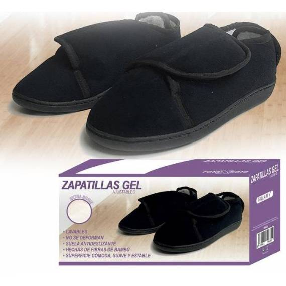 zapatilla gel ajustable teletienda outlet anunciado tv