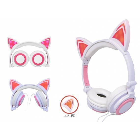 Auriculares cascos estilo gato