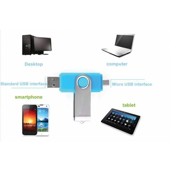 Memoria para Móvil y Tablet Pendrive Dual 16GB