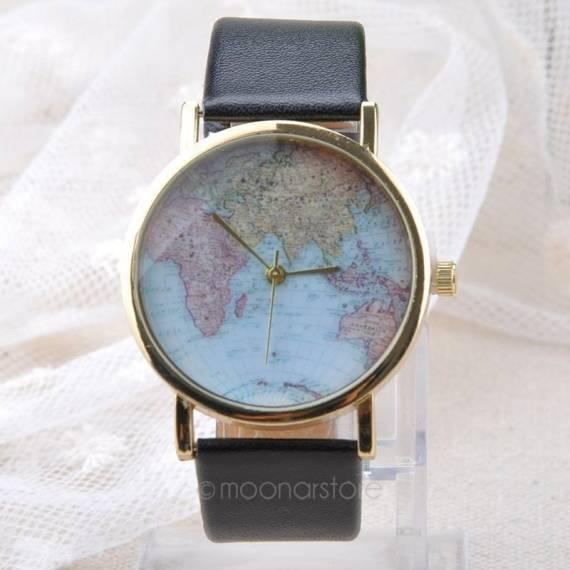 Reloj de pulsera Mapamundi