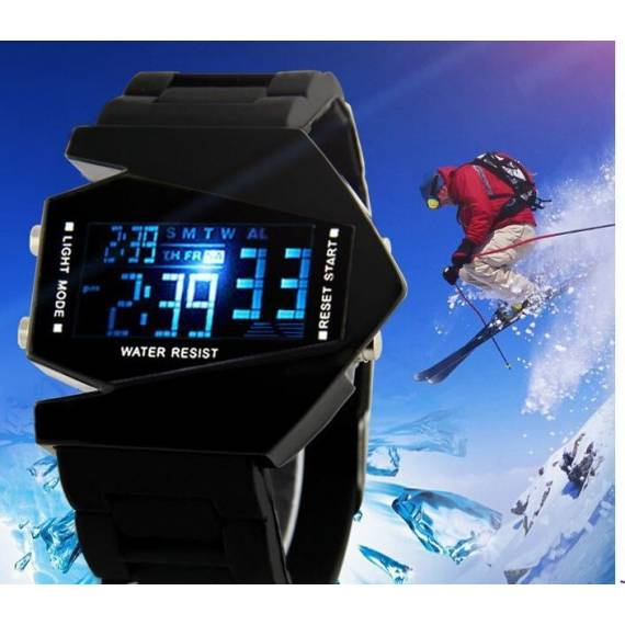 Reloj de pulsera Digital Fashion Triangular Aircraft
