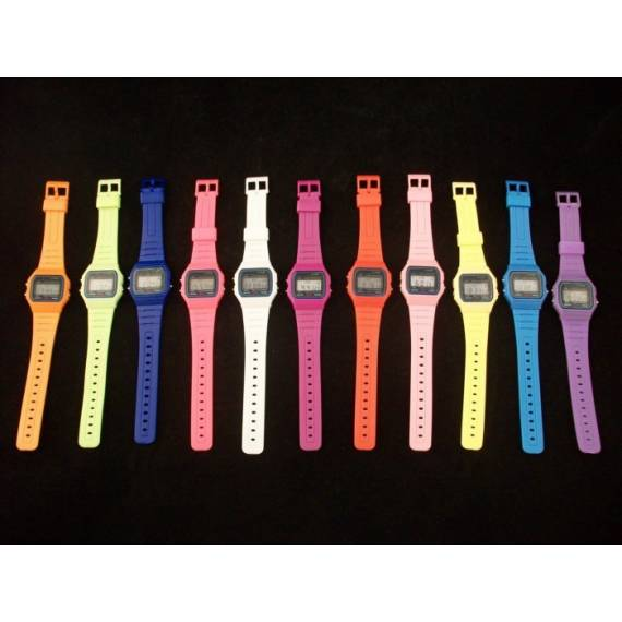Reloj Digital Retro tipo F91W Colores