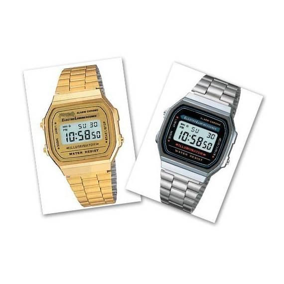 Reloj Digital Retro tipo F91W Oro o plata